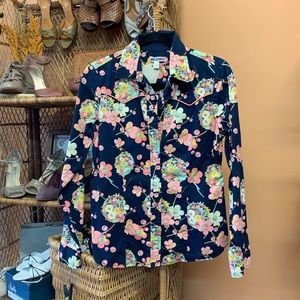The GAP Floral Western Long Sleeved Snap Button Up
